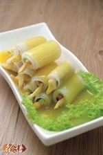 Golden Lily Radish Rolls Recipe 金针萝卜卷食谱