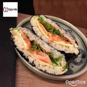 DIY Salmon Onigirazu Recipe 自制三文鱼饭团食谱