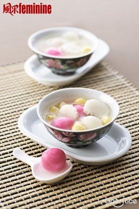 Tong Yuen with Gingko and Barley Recipe 白果薏米汤圆食谱