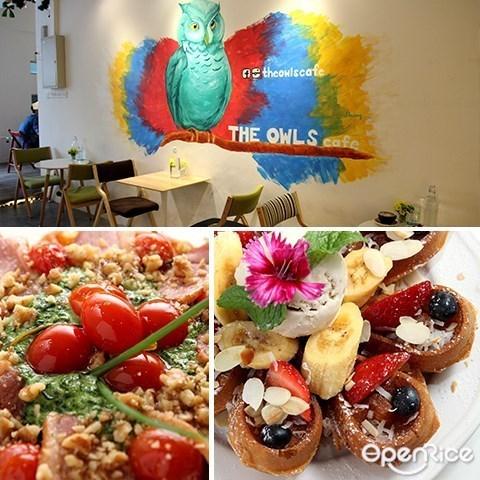 best restaurant, the owls cafe, rebecca waffle, waffles, bukit jalil, kl