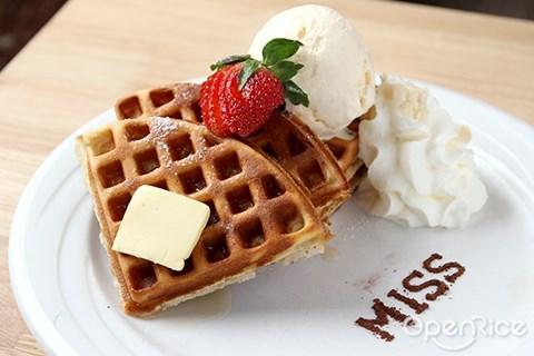 咖啡馆, cafe, puchong, miss, waffle