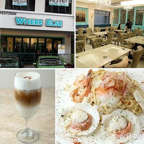 咖啡馆, 浪漫, where else cafe, jalan kenari, western, pasta, coffee, puchong