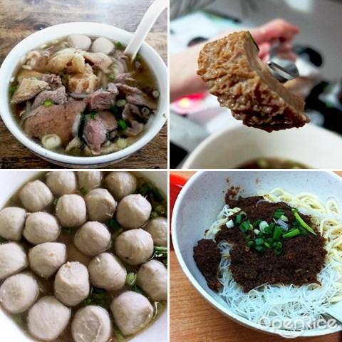 kl, pj, lai foong, beff noodle, beef innards, meatballs