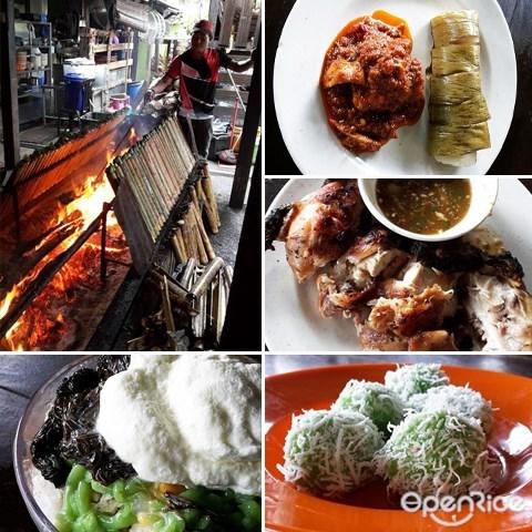 竹筒飯,Lemang,燒雞,Jalan Tras, 彭亨, Ayam Bakar, 文冬, 勞勿