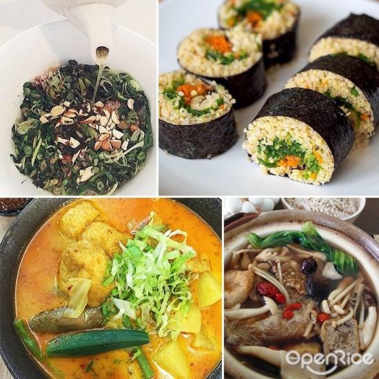 Healthy Food, Vegetarian, Vegetables, Oil-free cooking, No MSG, KL, PJ