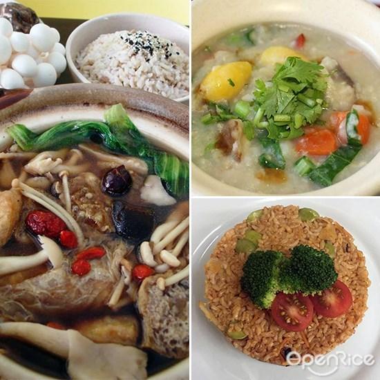 Love Earth Café, vegetarian, healthy food, brown rice, desa aman puri, kepong, kl