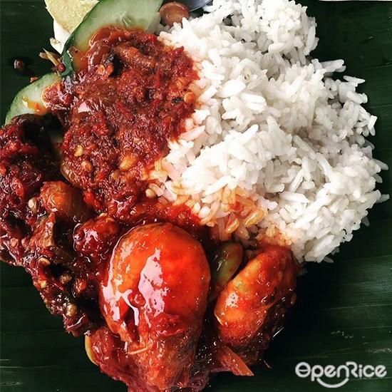 Nasi Lemak Kampung Pandan, Nasi Lemak, Ayam Goreng, Rendang, Kampung Pandan, Taman Maluri