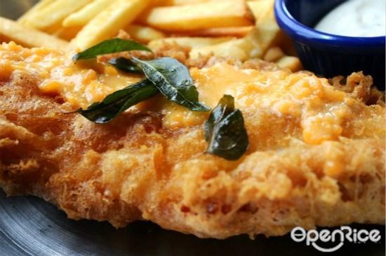 Fish & Co, Fish & Chips, salted egg york, premium, Golden Deluxe