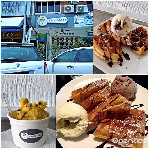Inside Scoop, Ice cream Waffles, ice cream, bangsar, kl