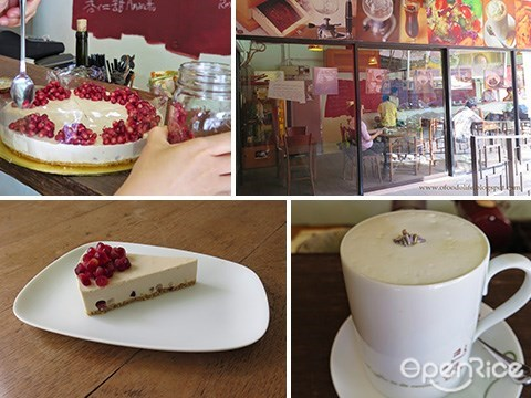 Typica, Lavender coffee, Ampang, Pomegranate Cheese Cake
