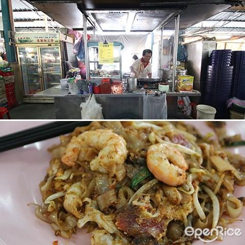 lebuh cecil market, penang, pasar, best food, char koay teow