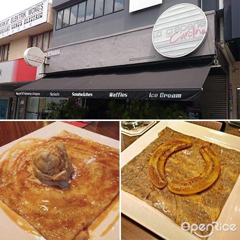 La Creperie de Caroline, Jalan Telawi, Bangsar, Sweet Crepes, Savory Crepes, Chocolate, Crepes,  KL