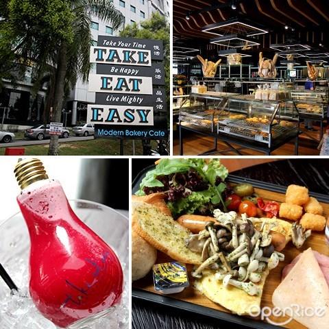 kepong, cafe, menjalara, take eat easy, light bulb juice