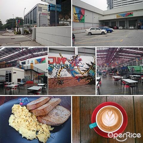 Jump street cafe, Jump street, Seksyen 13 PJ, Bosch Factory Malaysia, Trampoline park, Industrial Cafe