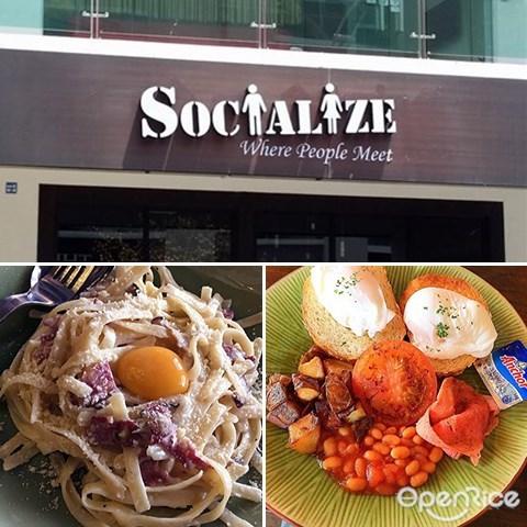 Socialize Café, Sandwiches, Spaghetti, Coffee, 亚庇, 沙巴