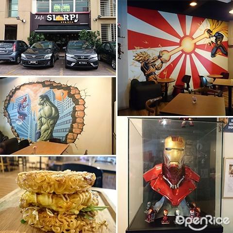 Slurp Cafe, 3 Two Square, PJ, Dataran 3 Two, Omuraisu, Japanese food in KL, Themed Cafe in Klang Valley