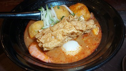 Kahwin and curry laksa